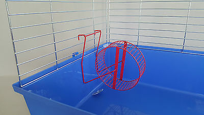 Accurato Carousel Reel In Metallo Jogging Criceto Topi Roditori Criceto Gabbia Con Supporto 15cm-mostra Il Titolo Originale