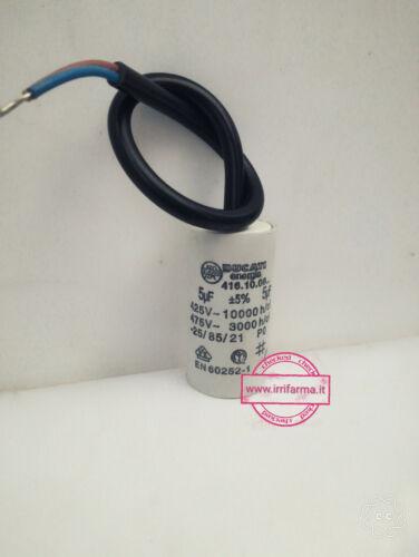 Condensatore di spunto marcia e avviamento motori monofase da 1-80 UF 450V Fili