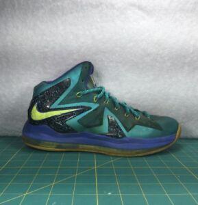 super popular ab0aa 3af45 Image is loading Nike-Lebron-X-10-P-S-Elite-Teal-Blue-