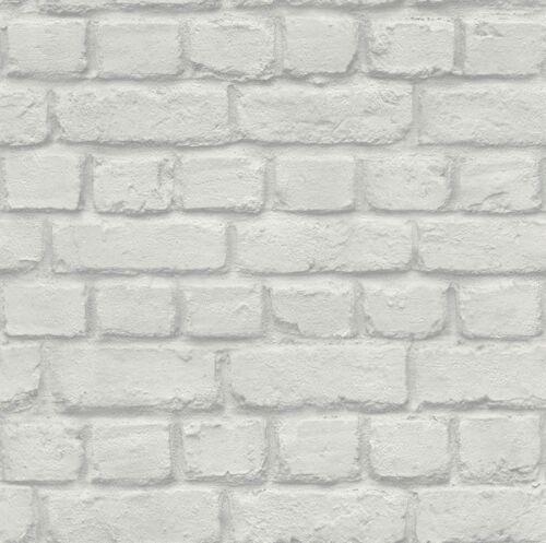 226713 Ziegel Stein Optik Struktur grau Rasch Papier Tapete Kids/&Teens II