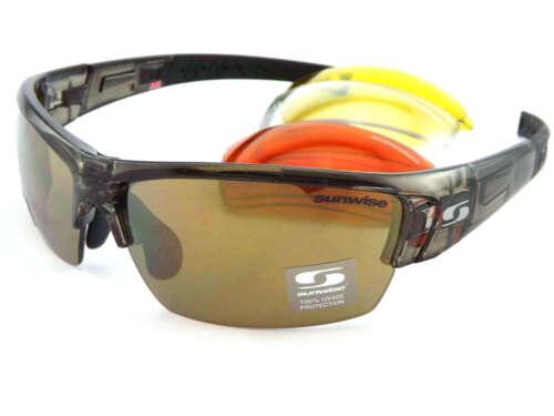 SUNWISE RX Ready Atlanta Sports Olive Lunettes de soleil 4 x lentilles interchangeables