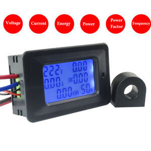 Voltaje-de-CA-110V-250V-Amp-100A-20A-factor-de-potencia-de-frecuencia-de-Panel-Digital-Medidor-kwh