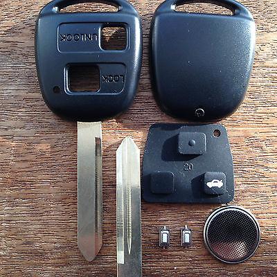 Pour Toyota Corolla Camry Celica Colorado Rav 4 Prius 2 boutons Remote Key Case