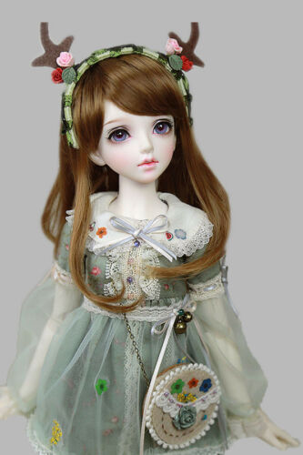 "New BJD Doll Wig Dollfie 6/"" 1//6 SD DZ DOD LUTS Bjd Doll Wig Colors MBS004"