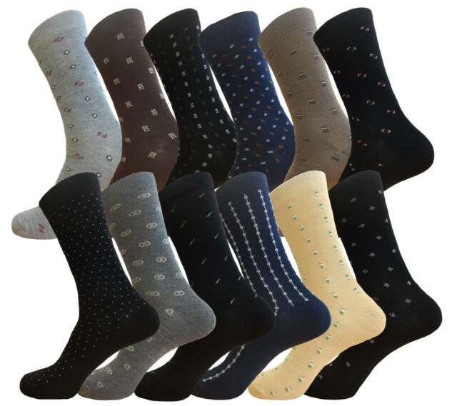Lot of 12 Pair Dress Socks Royal Classic formal fashion Cotton socks size 9-11
