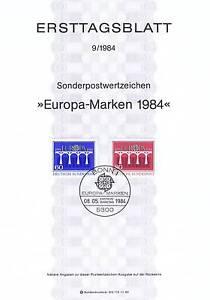 BRD-1984-Bruecken-Ersttagsblatt-Europamarken-Nummer-1210-1211-Bonn-Stempel