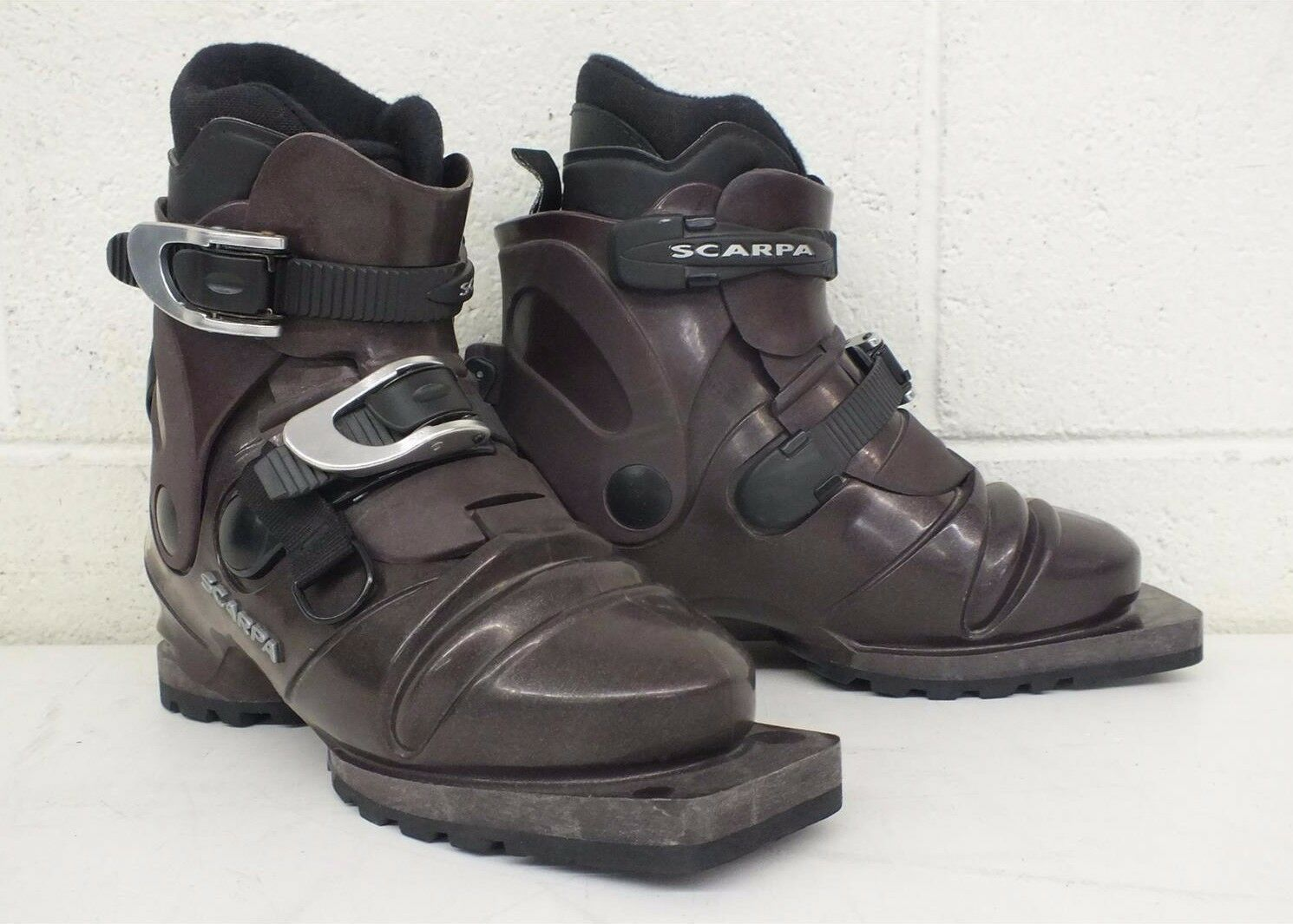 Scarpa T3 3-Pin 75mm Nordic Norm Telemark Ski Boots US Women's 5.5 EXCELLENT