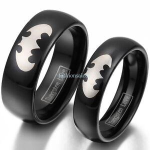 8mm-6mm-carbure-de-tungstene-Laser-Grave-Batman-Femme-Homme-Couple-Band-Ring-New