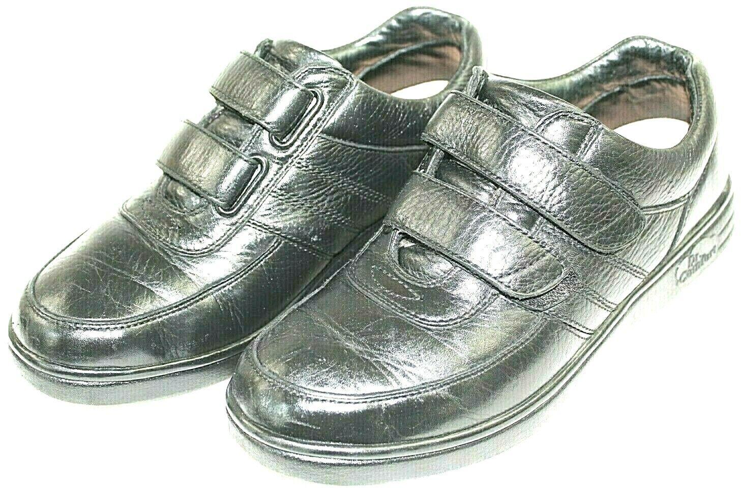 DR. COMFORT womens athletic shoes size 9.5 M leather upper black vel stick strap