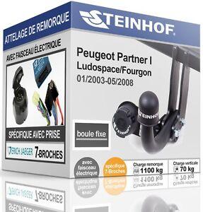 ATTELAGE-fixe-PEUGEOT-PARTNER-I-de-2003-05-2008-FAISCEAU-SPECIAL-7-broches