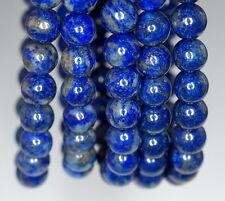 "7-8MM LAPIS LAZULI GEMSTONE GRADE A BLUE ROUND 7-8MM LOOSE BEADS 7.5"""