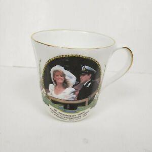 Vtg-Duke-and-Duchess-of-York-Argyle-bone-china-wedding-mug-tea-cup-1986-royalty