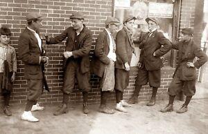 "1916 Street Gang Springfield, MA Vintage Photograph  11"" x 17"" Reproduction"