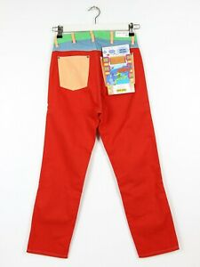 WRANGLER by PETER MAX  STRAIGHT JEANS RED  RETRO MOM BOYFRIEND MID ANKLE