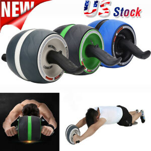 Dual Wheel Abdominal Roller Workout Exercise Arm Waist Fitness Exerciser US