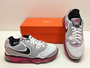 f0d78733444 Nike Air Compete TR Running Gray White Cherry Training Sneakers ...