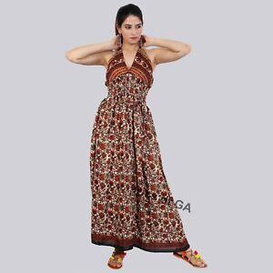 Handmade-Ladies-Casual-Evening-Summer-Magic-Dress-Indian-Silk-Long-Maxi-Dress