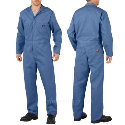Dickies COVERALLS Mens Long Sleeve Mechanic Coveralls 4861//48611 Blue Navy