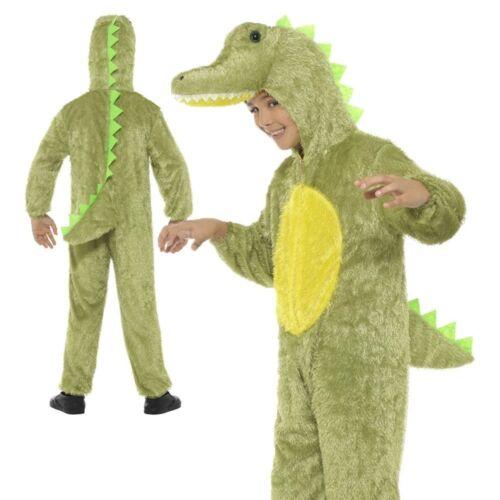 Enfant Peluche Crocodile Costume Combinaison Livre Semaine Jour Déguisement Costume Âge 4-6