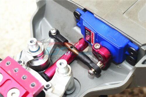 Rustler 4x4 GPM Racing Spring Steel Tie Rod+25T Aluminum Servo Horn Red