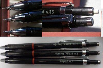 Rotring Rapid Druckbleistift 0,35mm  0,5mm   0,7mm