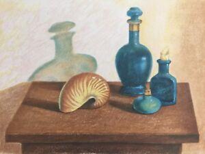 Antonio-Nunziante-litografia-a-colori-Natura-Silente-50x70-firmata-Certificato