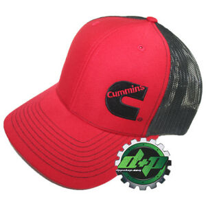 Dodge Cummins trucker hat ball mesh richardson red w  black snap ... 5af58447189e