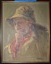 Maritimes Brustportrait, signiert-Öl/Lwd/Keilrahmen 30x24cm-Rahmen 45,5x40,0cm