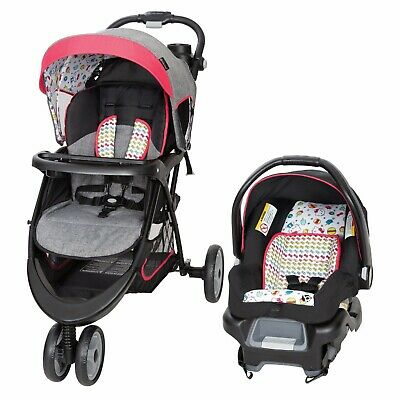 Baby Trend Car Seat Stroller Padded Seat Height Adjustable 5 Point Safe Harness