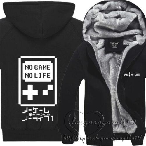 Anime No Game No Life Cosplay Thicken Coat Hoodie Winter Fleece Sweater Jacket