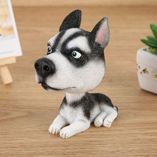 Resin bobble Head Siberian Husky Dog Home Room Car Ornament Decor Gift
