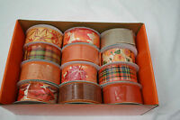 Expressions Mesh Ribbon Wreath Floral Crafts Fall Colors 12 Pak 1.5 X 10yd Each