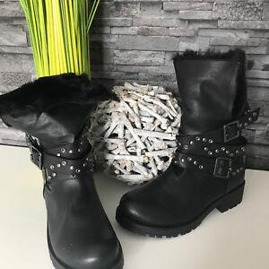 Das Bild wird geladen Damen-Schuhe-Stiefel-Boots-NEU-warm-gefuettert-36- 41a7f6359f