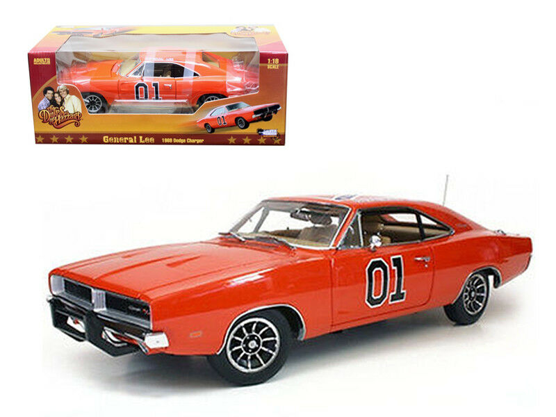 Autoworld 1969 dodge charger dukes of hazzard general lee 1   18 nein auto - modell