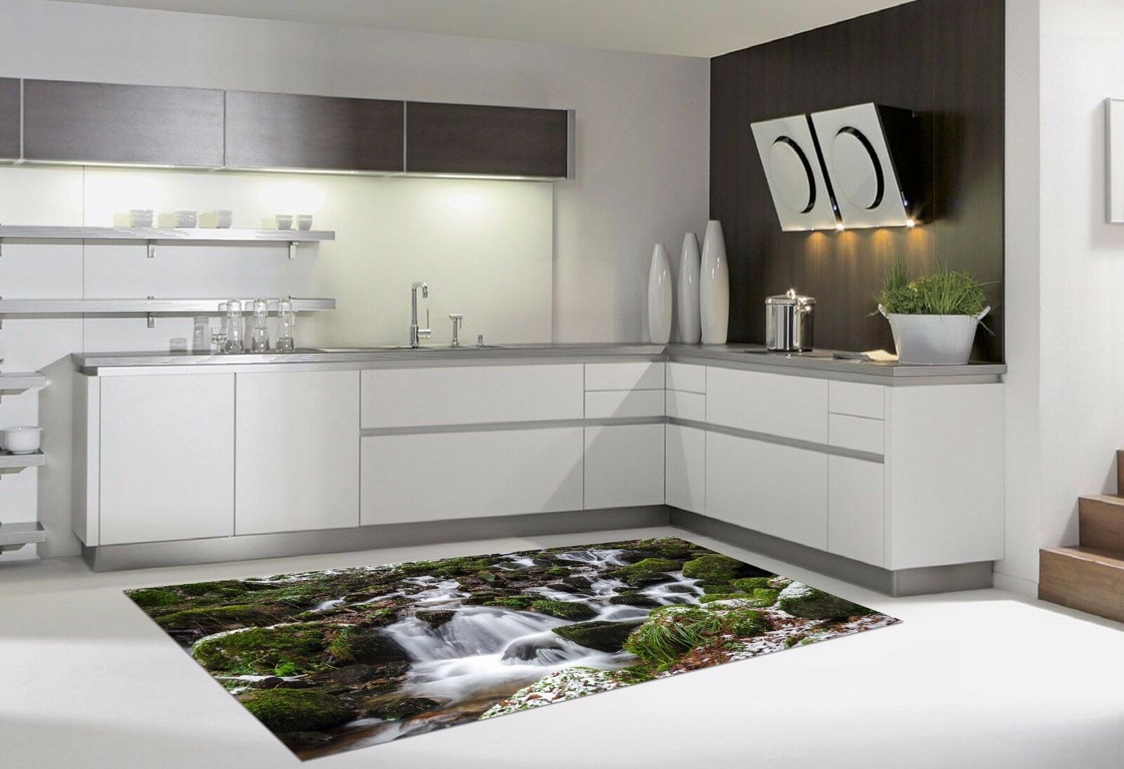 3D Shrub Stone 83 Kitchen Mat Floor Murals Wall Print Wall AJ WALLPAPER AU Carly