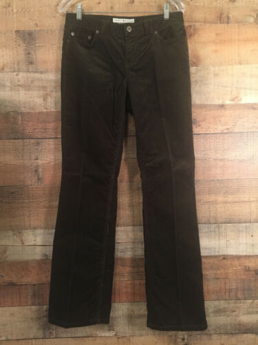 Women's Low Rise Boot Cut Cords Size 8 Brown Tommy
