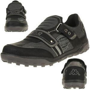 Details Sneaker Schwarz 242653 Herren Casual Kappa Sasby Klett Zu Schuhe xBerCod