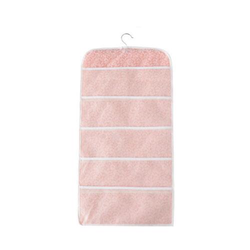 15//30 Grids Bra Underwear Socks Storage Bag Double Sided Door Hanging Organiser