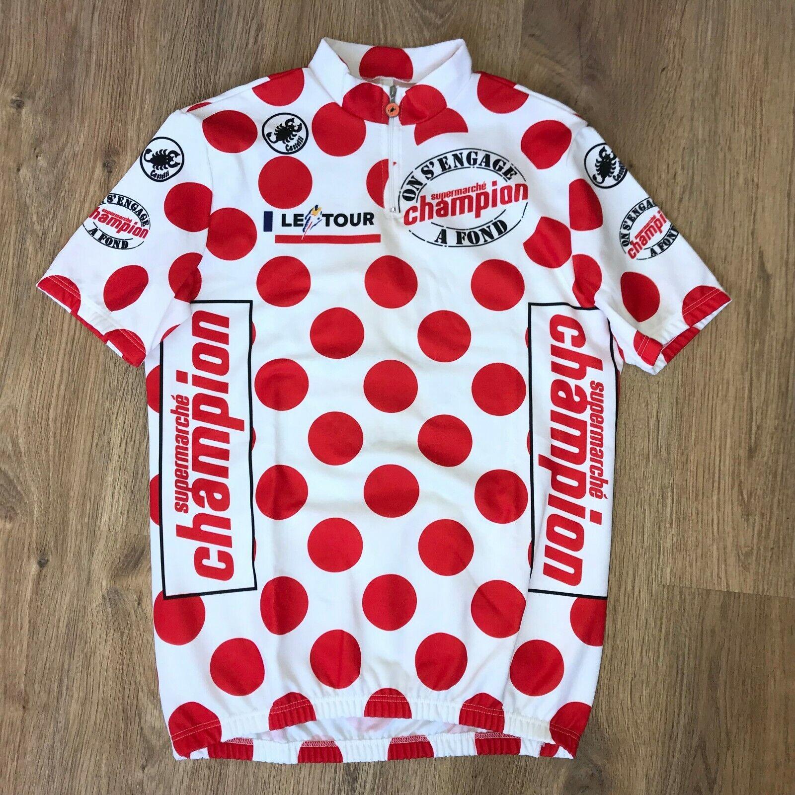 Champion Castelli Le Tour de France rare vintage cycling jersey Dimensione XL
