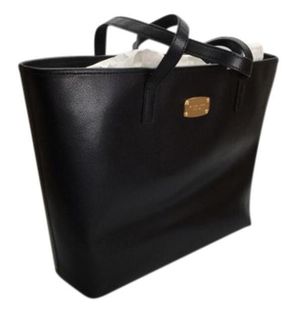 Michael Kors Jet Set Mf Leather Tech Friendly Laptop Tote Bag Black 298 190049125212