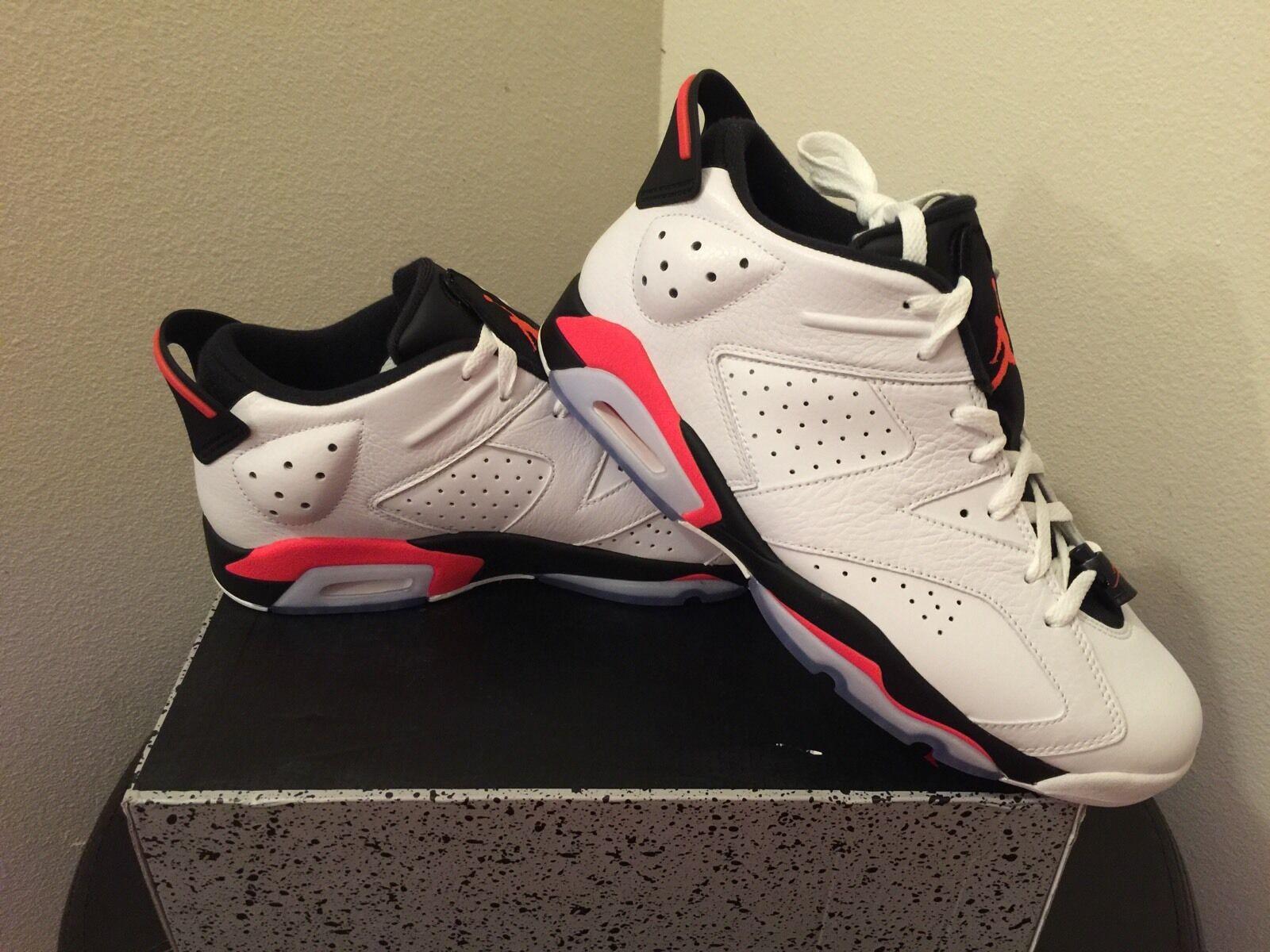 Nike Air Jordan 6 Retro Low Size 10.5 White  Infrared  23 Black [304401-123] DS