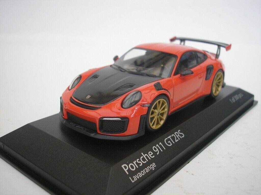 Porsche 911 gt2 RS (991.2) 2018 lavaarancia 1 43 Minichamps 410067229 nuevo
