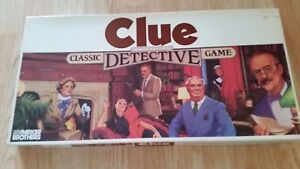 1986 Vintage Clue Board Game Parker Brothers Classic Detective Game - Parts Only