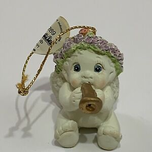 Dreamsicles-Christmas-Ornament-Angel-with-horn-1995-1996-X-Mas