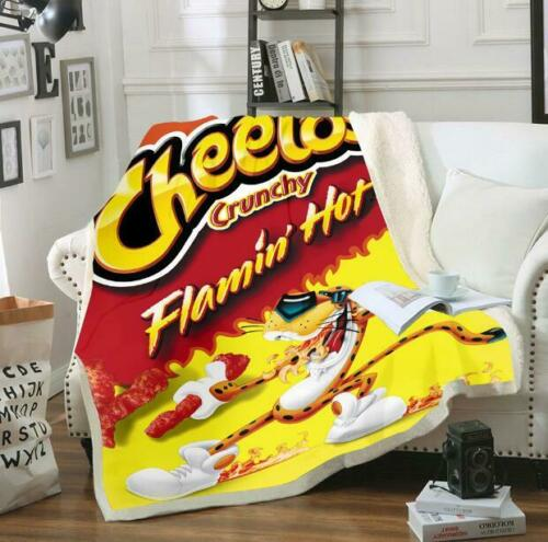 Newest food cheetos 3d Print Sherpa Blanket Sofa Couch Quilt Cover Throw T172
