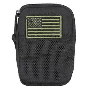 Voodoo Tactical Universal Compatible BDU Utility Wallet with Flag Patch Black