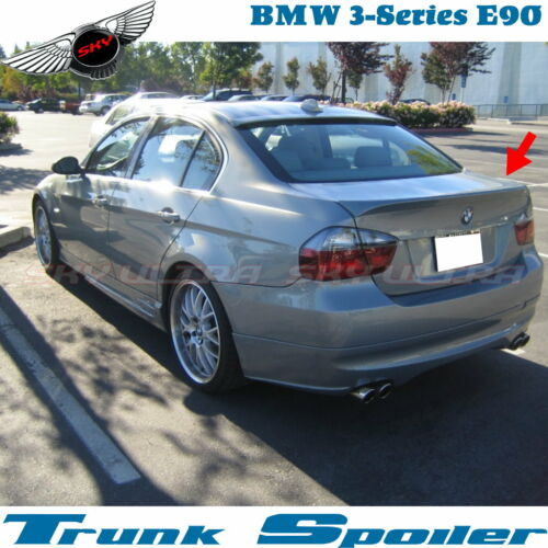 Stock ABS OE Type Rear Trunk Spoiler Wing For 06~11 BMW 3 Series E90 4D Sedan