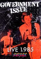 Government Issue - Live 1985 (new Sealed Dvd 2005) Hardcore Punk 2 Venues