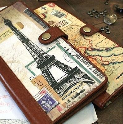 7321 Design Passport Holder Travel Organizer  Wallet SOUVENIRS DE VOYAGE