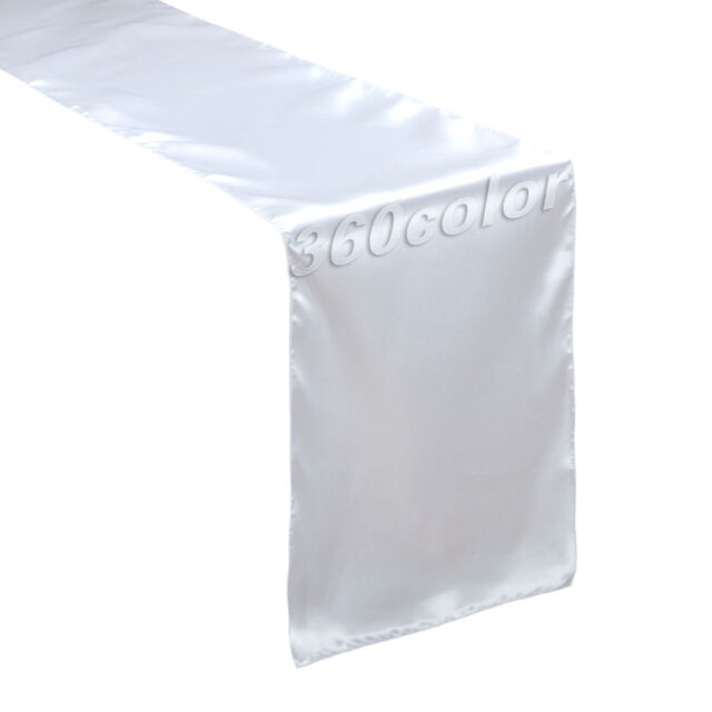 """5 x Satin Table Runners Wedding Party Event Banquet Supply Decoration 12"""" x 108"""""""